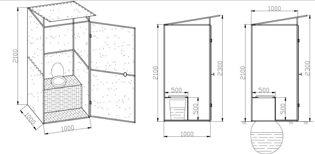 Садовый туалет схема